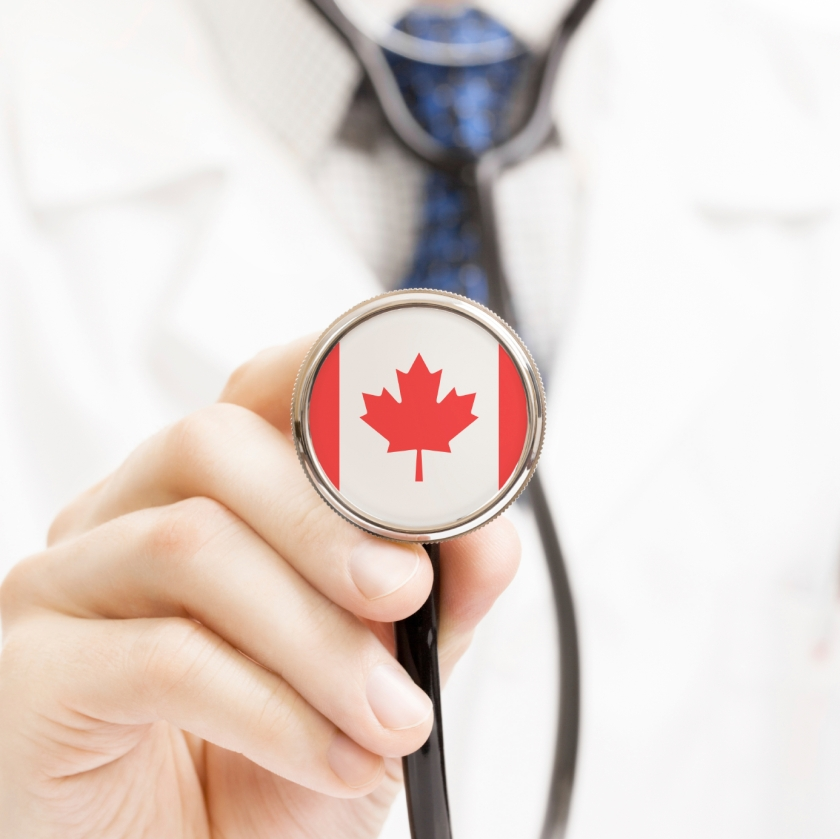National flag on stethoscope conceptual series - Canada