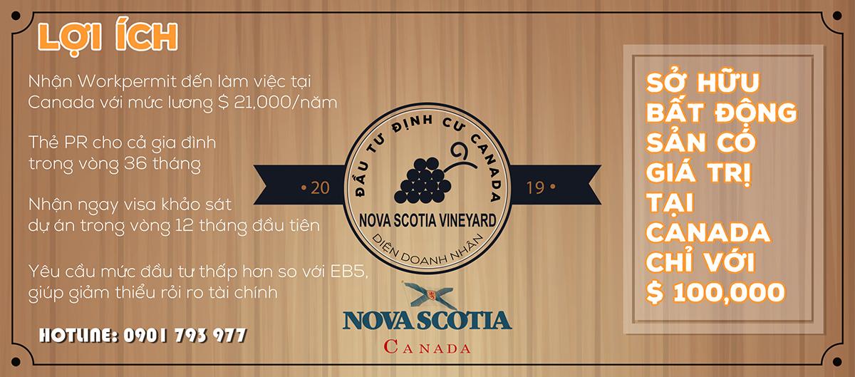 Đầu tư đất trông nho Nova Scotia