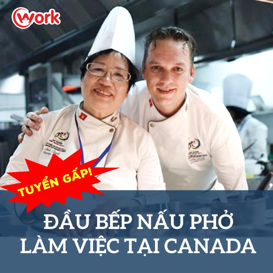Tuyển dụng đầu bếp nấu phởi tại Canada
