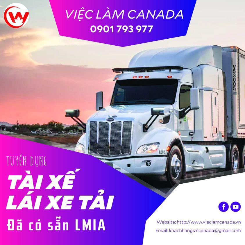 Việc làm tài xe lái xe tải tại Canada
